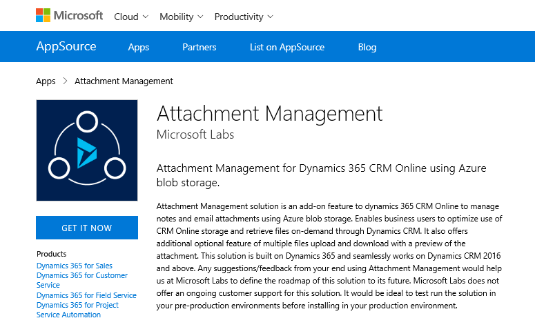 Tip #845: Store Dynamics 365 file attachments in Azure Blob