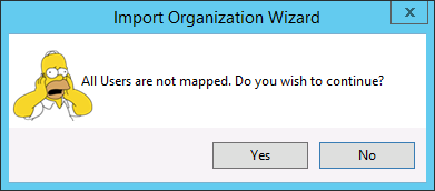 All users are not mapped
